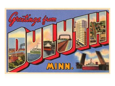 Greetings from Duluth, Minnesota--Art Print