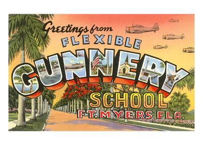 Greetings from Flexible Gunnery School, Florida--Art Print