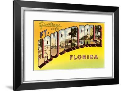 Greetings from Fort Lauderdale, Florida--Framed Giclee Print