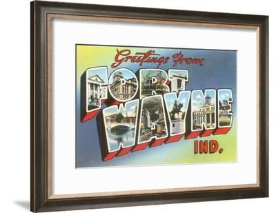 Greetings from Fort Wayne, Indiana--Framed Art Print