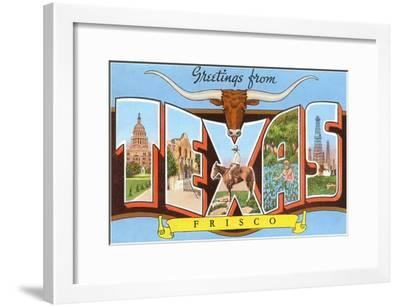 Greetings from Frisco, Texas--Framed Art Print