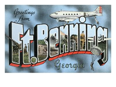 Greetings from Ft. Benning, Georgia--Art Print