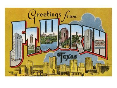 Greetings from Ft. Worth, Texas--Art Print