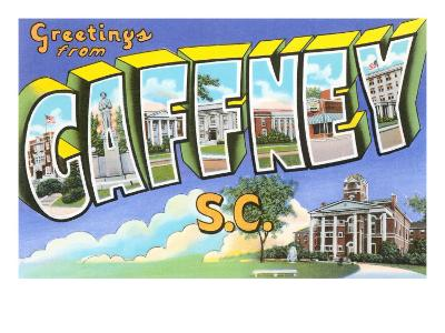 Greetings from Gaffney, South Carolina--Art Print
