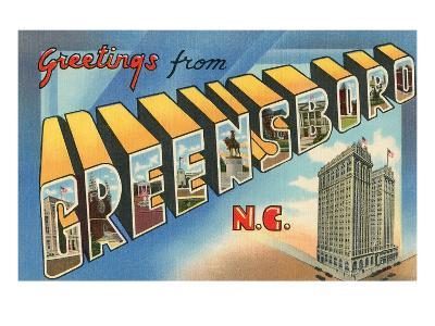 Greetings from Greensboro, North Carolina--Art Print