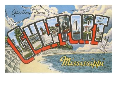 Greetings from Gulfport, Mississippi--Art Print