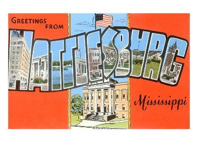 Greetings from Hattiesburg, Mississippi--Art Print