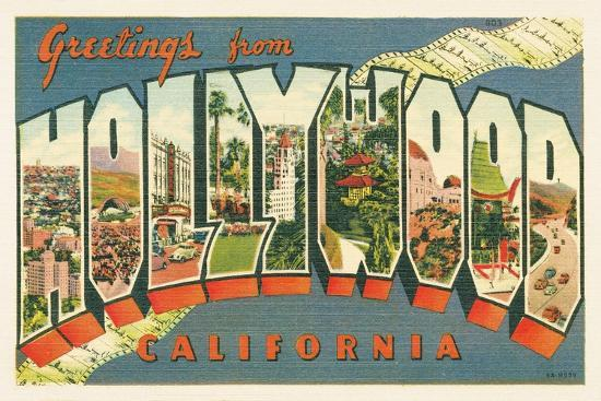 Greetings from Hollywood v2-Wild Apple Portfolio-Art Print
