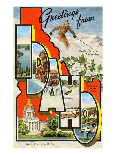 Greetings from Idaho--Art Print