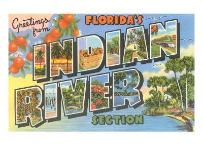 Greetings from Indian River, Florida--Art Print