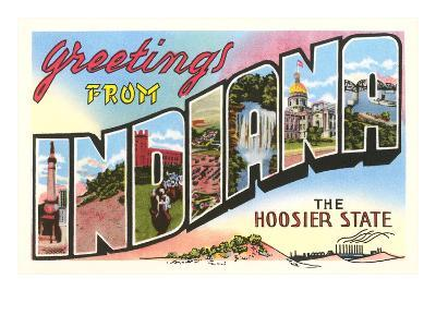 Greetings from Indiana--Art Print