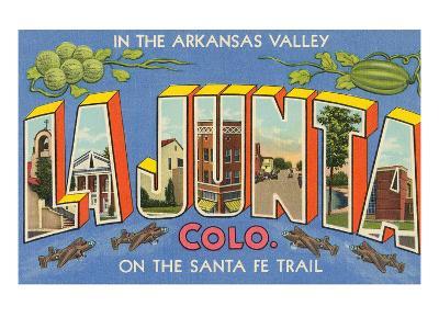 Greetings from La Junta, Colorado--Art Print