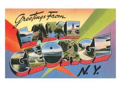 Greetings from Lake George, New York--Art Print
