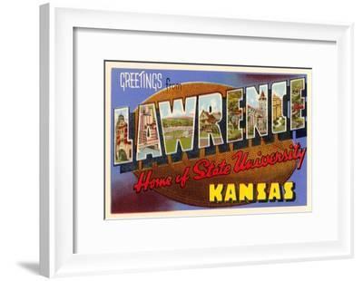 Greetings from Lawrence, Kansas--Framed Art Print