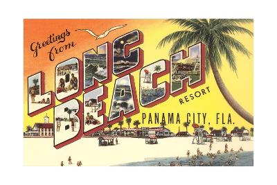 Greetings from Long Beach Resort, Panama City, Florida--Giclee Print