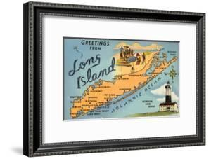 Greetings from Long Island, New York, Map