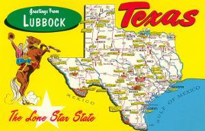 Greetings from Lubbock, Texas, Map