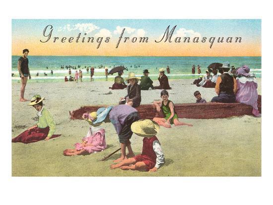 Greetings from Manasquan, New Jersey--Art Print