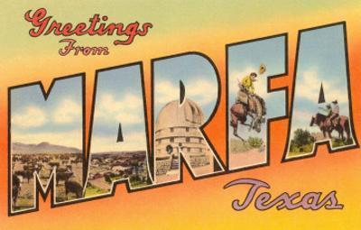 Greetings from Marfa, Texas