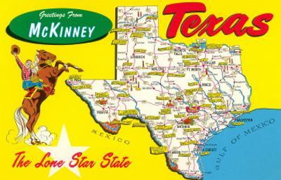 Greetings from McKinney, Texas, Map
