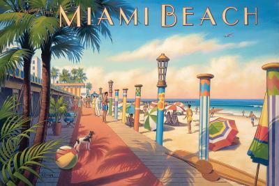 Greetings from Miami Beach-Kerne Erickson-Art Print