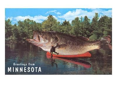 Greetings from Minnesota, Giant Fish--Art Print