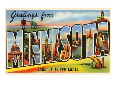 Greetings from Minnesota--Art Print