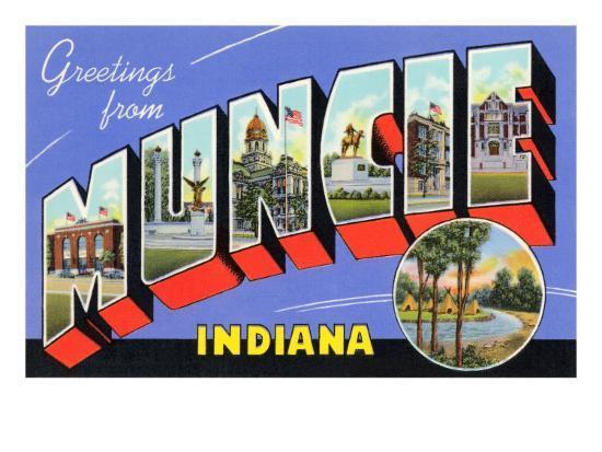 Greetings from Muncie, Indiana--Art Print