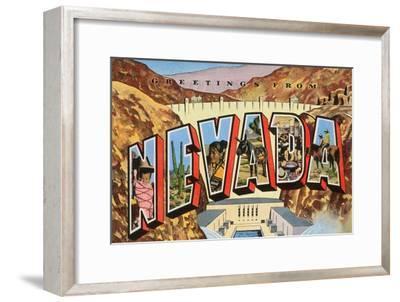 Greetings from Nevada--Framed Art Print