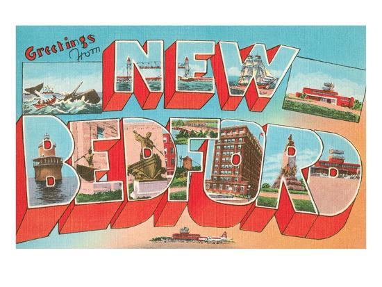 Greetings from New Bedford, Mass.--Art Print