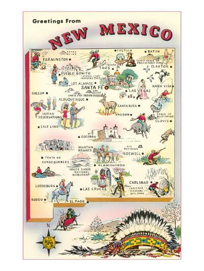 Greetings from New Mexico--Art Print