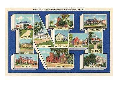 Greetings from Nh, University of New Hampshire--Art Print
