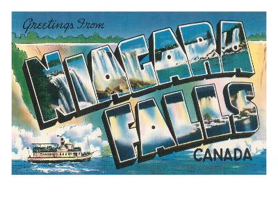 Greetings from Niagara Falls, Canada--Art Print