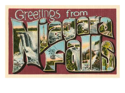 Greetings from Niagara Falls--Art Print