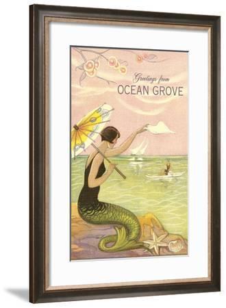 Greetings from Ocean Grove, New Jersey--Framed Art Print