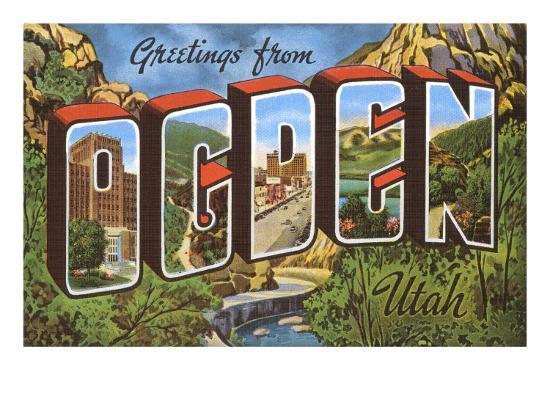 Greetings from Ogden, Utah--Art Print