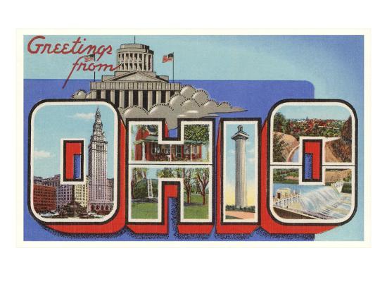 Greetings from Ohio--Art Print