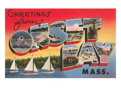 Greetings from Onset Bay, Massachusetts--Art Print