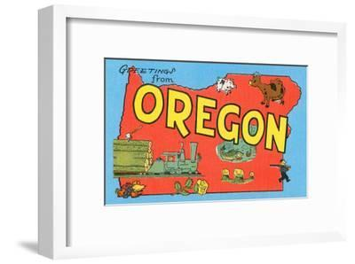 Greetings from Oregon, Map