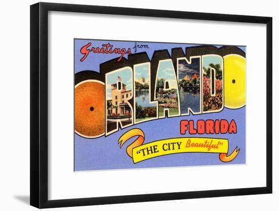 Greetings from Orlando, Florida--Framed Art Print