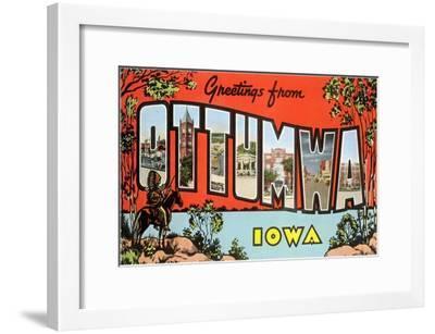 Greetings from Ottumawa, Iowa--Framed Art Print