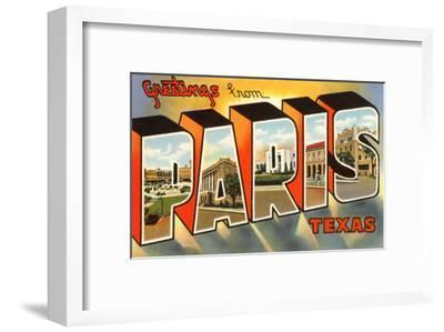 Greetings from Paris, Texas