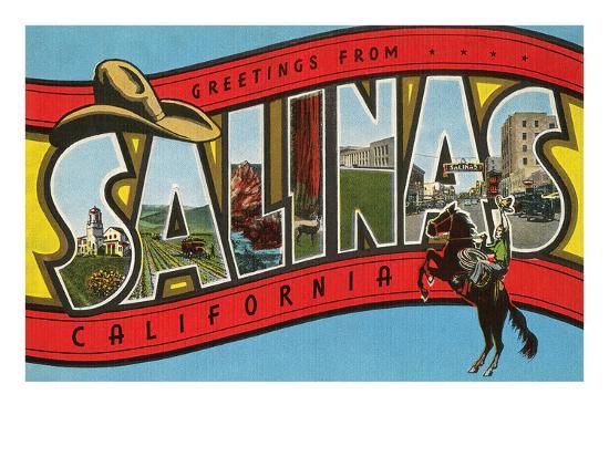 Greetings from Salinas, California--Art Print