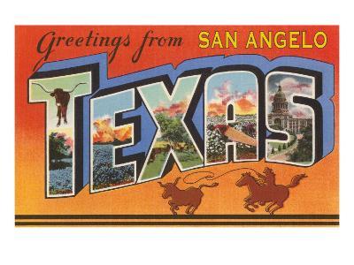 Greetings from San Angelo Texas--Art Print