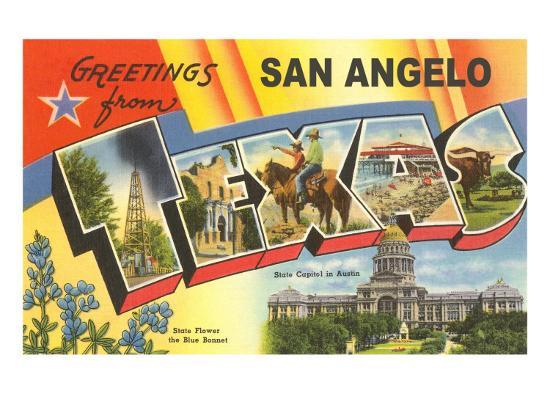 Greetings from San Angelo, Texas--Art Print