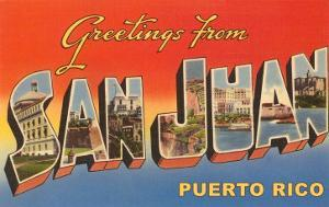 Greetings from puerto rico artwork for sale posters and prints at greetings from san juan puerto rico m4hsunfo