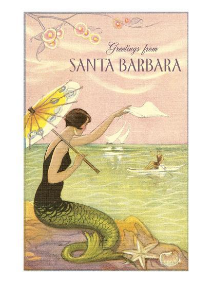 Greetings from Santa Barbara--Art Print