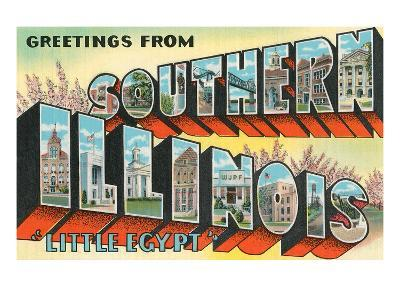 Greetings from Southern Illinois, Little Egypt--Art Print