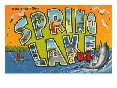 Greetings from Spring Lake, New Jersey--Art Print