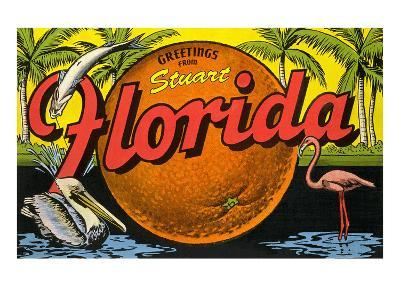 Greetings from Stuart, Florida--Art Print